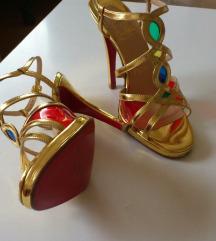 Christian Louboutin zlatne sandale