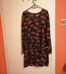duga haljina sa ružama 44-48