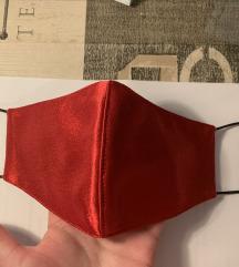 Maska crveni saten