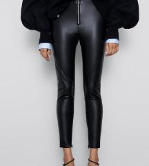 Zara kožne hlače M nenosene uklj slanje