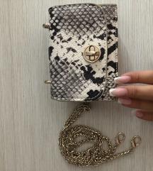 Zara mini snake torbica