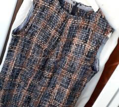 Zimska vunena karirana haljina M