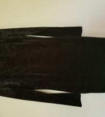 Crna šljokičasta haljina