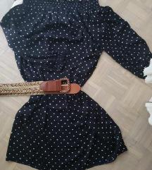 Polka dot off shoulder haljina
