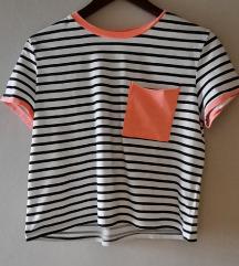 majica kratkih rukava loose fit s prugicama