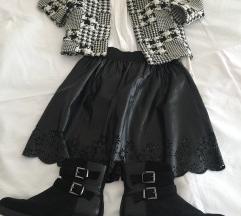 Lot sako, košulja, suknja , gležnjače