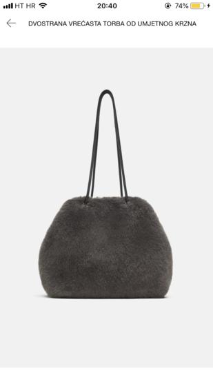 Zara krznena torbica