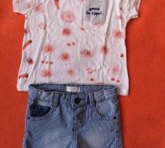 Lot majica i bermude Mango 80
