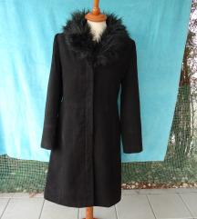 Ženski dugi crni kaput Miss Selfridge vel. 36