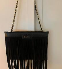 ELFS crna pismo torbica s resama