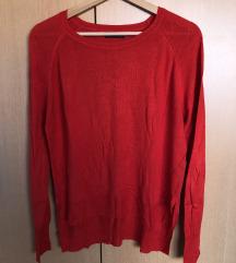 ZARA Crvena majica dugih rukava