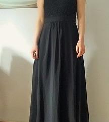Crna duga svečana haljina