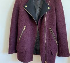 Zara bordo jakna kaput NOVA