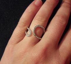 Geometrijski prsten s cirkonima
