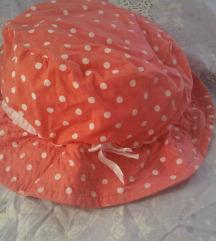 Slatki pamučni šeširić za curice v. 52  86/92