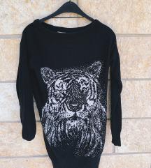 ZARA pulover s printom tigra - kao novo