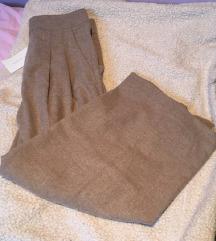 Zara camel vunene culotte hlače xs
