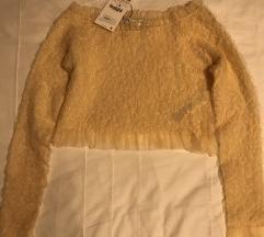 Zara crop majica od tila golih ramena NOVO