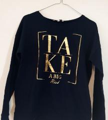 C&A ženska tamnoplava majica s natpisom