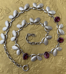Ogrlica srebro i ametisti