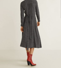 ❤️ Mango Audrey preklop haljina