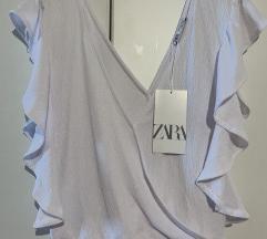 Nova Zara bluza s volanima s 36