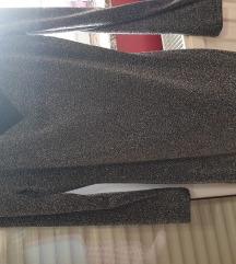 Crna sljokicasta haljina