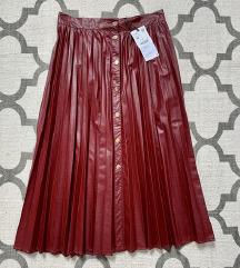"""Zara """"kožna"""" suknja"""