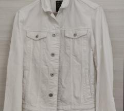 REVIEW bijela traper jakna, S