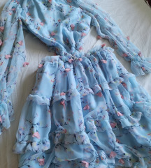 Predivna lepršava Pompon haljina