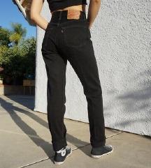 REZ Levisice 501 crne NOVE visok struk hlače