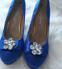 Plave svečane cipele na petu