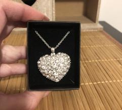 Ogrlica srce sa cirkonima