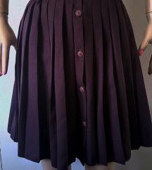 Ljubičasta plisirana suknja br M - L - KAROGLU