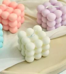 Ručno izrađene bubble mirisne svijeće