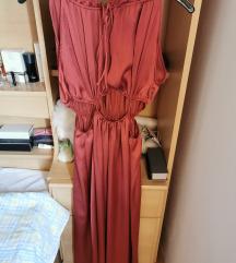 Zara maxi satinirana haljina