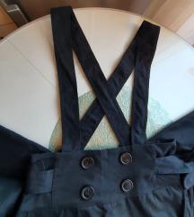 Crne hlače s visokim strukom i tregerice