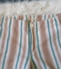 Pamučne široke hlače visoki struk M/L
