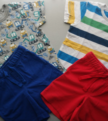 116 122 Gymboree - Next lot majice i kratke hlače