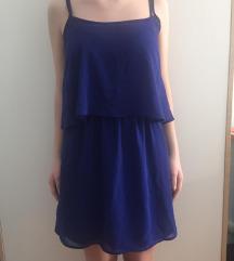 MANGO modra haljina