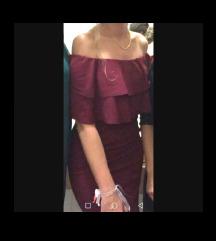 LA LUCE haljina s volanima svečana, tamno crvena