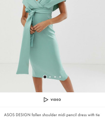 Asos haljina plava