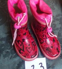 Gumene čizme za djevojčice 23