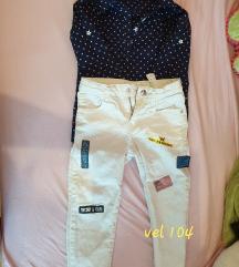 Košulja i hlače za djevojčice