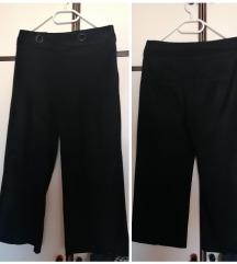 Zara crne hlače cullote antilop koža
