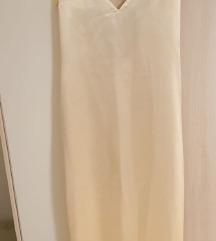 Saten haljina u boji sampanjca 38