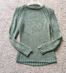 Mint pleteni pulover vel M