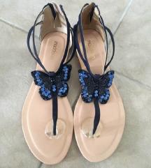 Kožne plave sandale