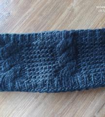 Pletena traka za kosu crna