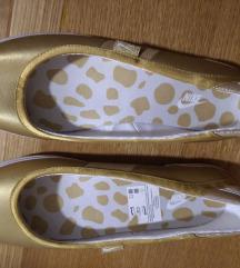 Novo!Zlatne Nike balerinke,prava koža